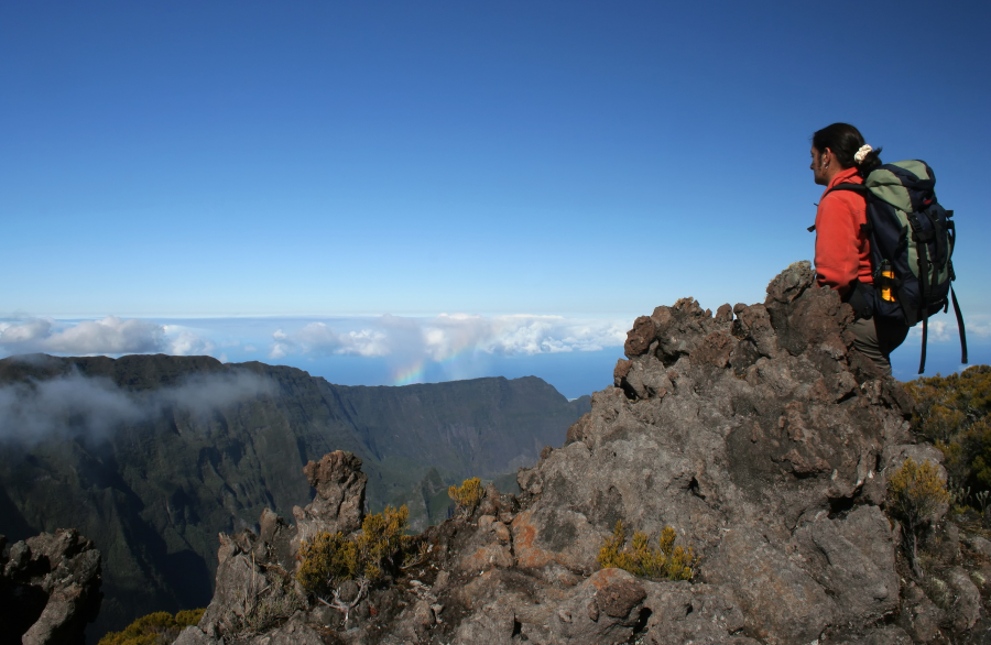 Treking on Reunion Island